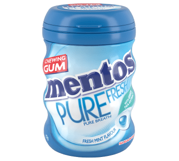Mentos Pure Fresh Gum Fresh Mint Medium Curvy Bottle