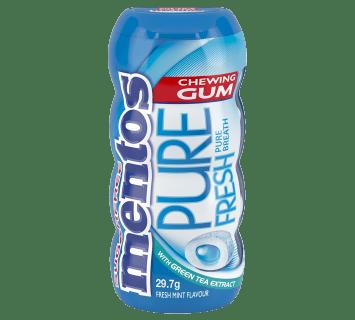 Mentos Pure Fresh Gum Fresh Mint Pocket Bottle