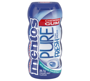 Mentos Pure Fresh Gum Strong Mint Pocket Bottle