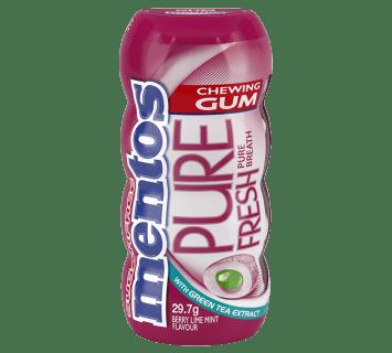 Mentos Pure Fresh Gum Berry Lime Mint Pocket Bottle
