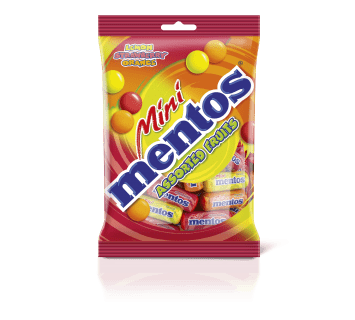 Mentos Assorted Fruits 25 Mini Roll Bag