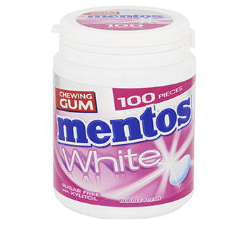 Mentos Gum White - Bubblefresh pot