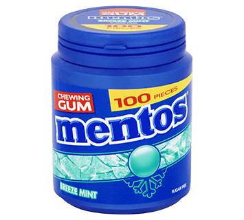 Mentos Gum Breeze Mint pot