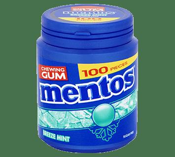 Mentos Gum - Breeze Mint pot