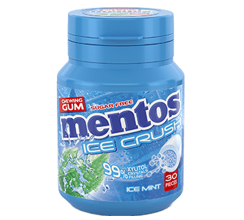 Mentos Gum Ice Crush - Ice Mint pot