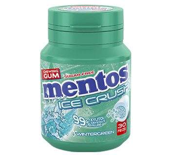 Mentos Gum Ice Crush - Wintergreen pot