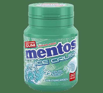 Mentos Gum Ice Crush - Wintergreen pot