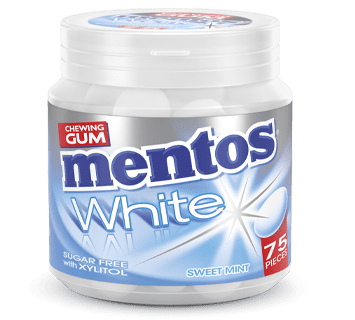 Mentos Gum White - Sweet Mint pot