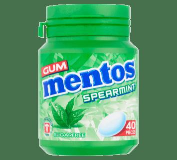 Mentos Gum Spearmint Bottle 40pcs