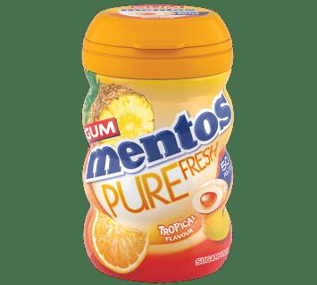 Mentos Pure Fresh Gum Tropical Big Bottle 50pcs