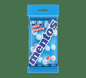 Bonbons Tendres Mentos Menthe fraîche 4 rouleaux