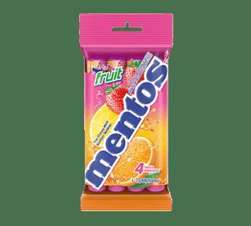 Bonbons Tendres Mentos Fruit 4 rouleaux
