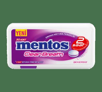 Mentos 2H CleanBreath Orman Meyvesi Ferahlığı Tablet Şeker - Plastik Kutu
