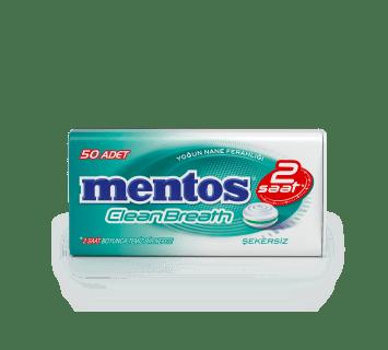 Mentos 2H CleanBreath Yoğun Nane Aromalı Tablet Şeker - Metal Kutu