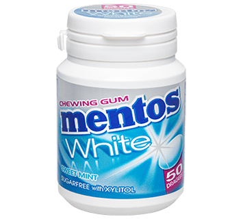 MENTOS CHEWING-GUM WHITE SWEET MINT