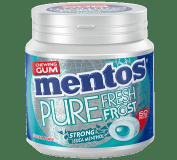 Mentos Gum Pure Fresh Frost Strong Euca Menthol Pot
