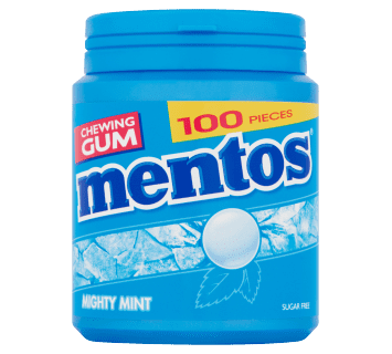 Mentos Gum Mighty Mint pot