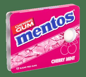 Mentos Gum  - Cherry mint pakje