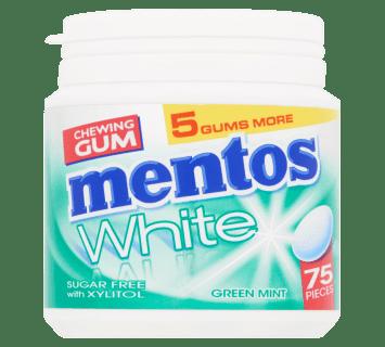 Mentos Gum White - Green Mint pot