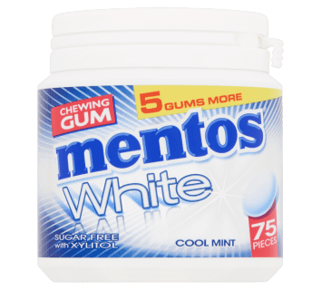 Mentos Gum White - Cool Mint pot
