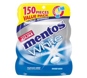 Mentos Gum White - Sweet Mint Refill Zak