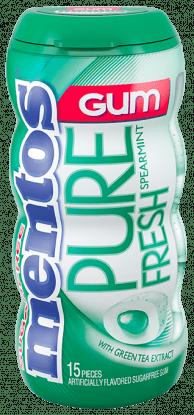 Mentos Pure Fresh Gum - Spearmint 15pc Pocket Bottle
