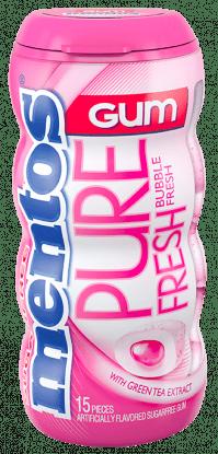 Mentos Pure Fresh Gum - Bubble Fresh 15pc Pocket Bottle