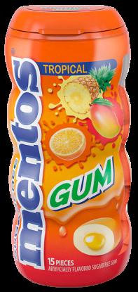 Mentos Gum - Tropical 15pc Pocket Bottle