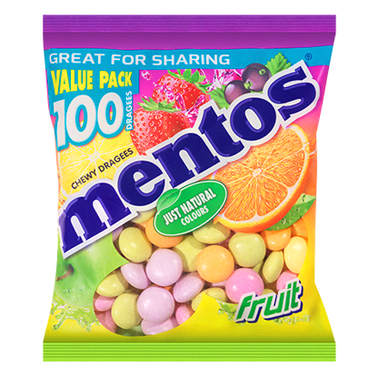 Mentos Fruit zak