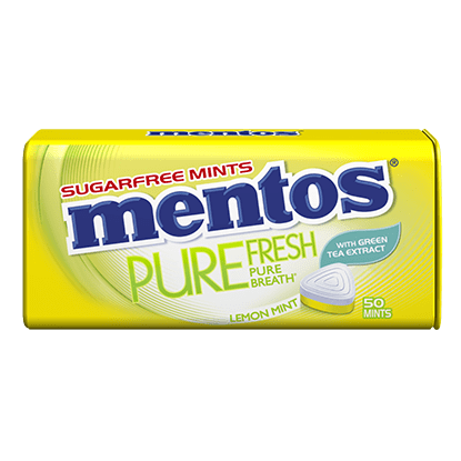 Mentos Pure Fresh Lemon Mint Tin