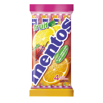 Mentos Chewy Mints Fruit 4 Pack