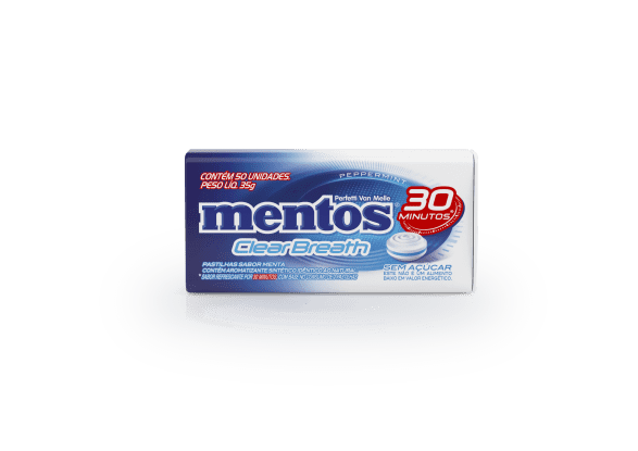 Mentos Clear Breath 30 minutos Peppermint