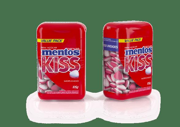Mentos Kiss Morango Embalagem Econômica