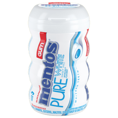 Mentos Pure White Sweet Mint gum