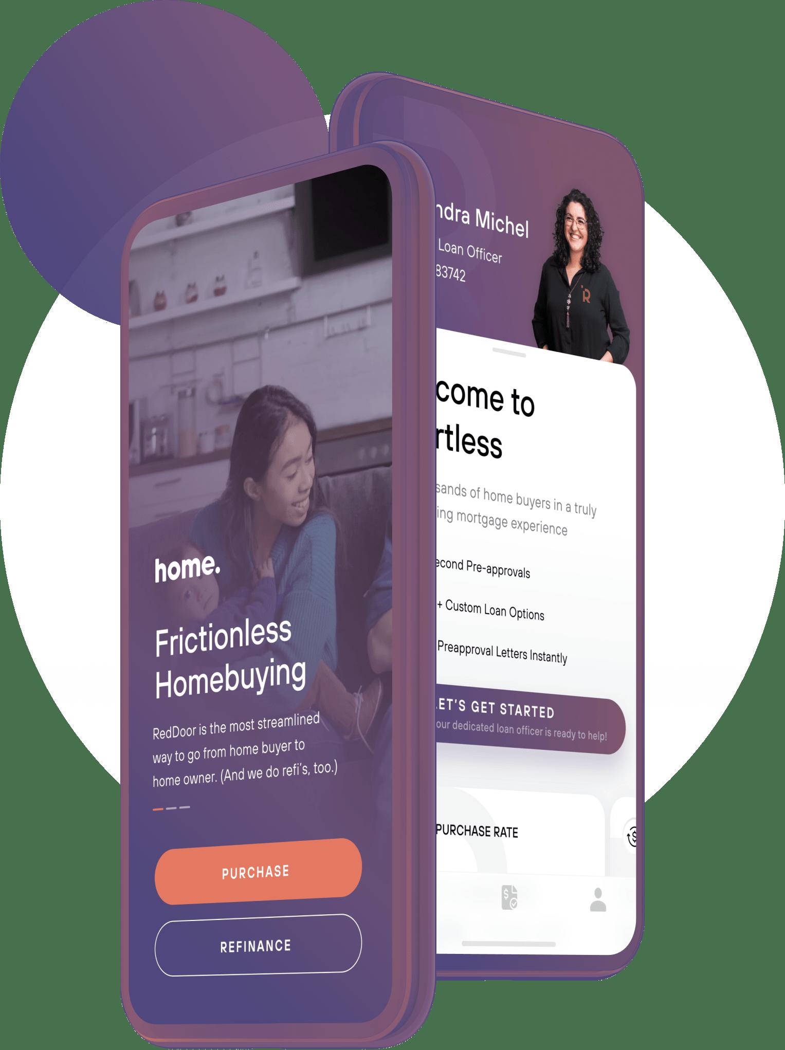 Home App device mobile mockup