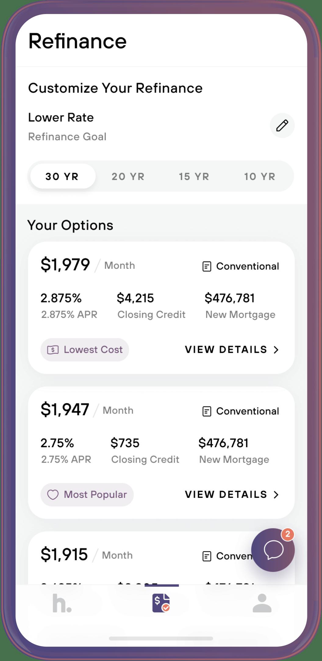 home app screen