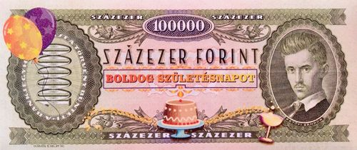 ch-2 100000 FORINT szülinapra