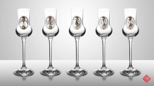a-3 Fémcímkés grappás pohár 70 ml