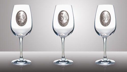a-1 Fémcímkés boros pohár 320 ml
