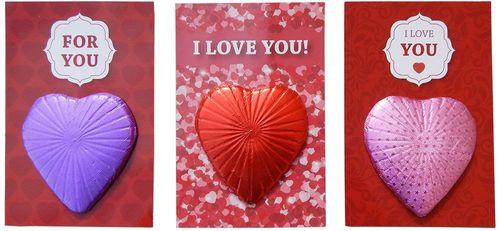 ch-89 Szív csokoládé üzenettel