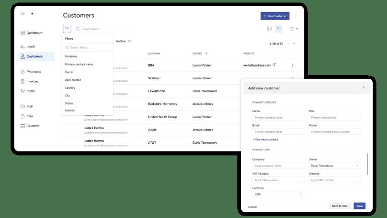 Information about client details
