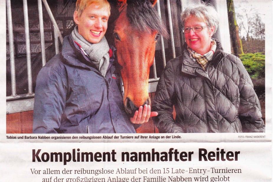 Kompliment namenhafter Reiter