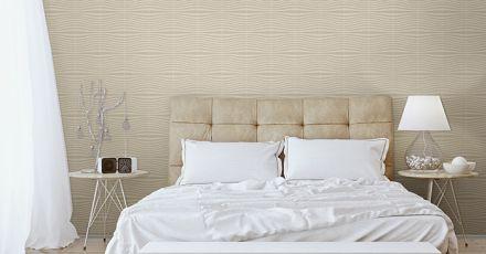 Cách thi công giấy dán tường phòng ngủ có keo sẵn đẹp miễn chê