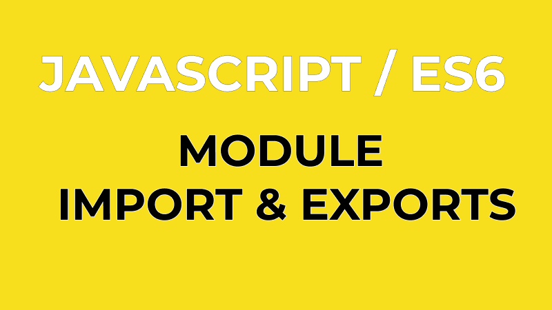 ES6: Default vs Named Exports