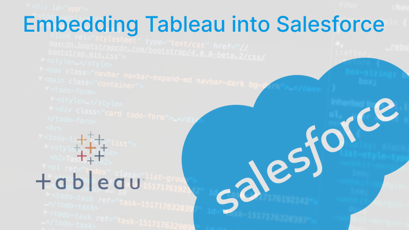 How To Embed Tableau Dashboards Into Salesforce Andre De Vries