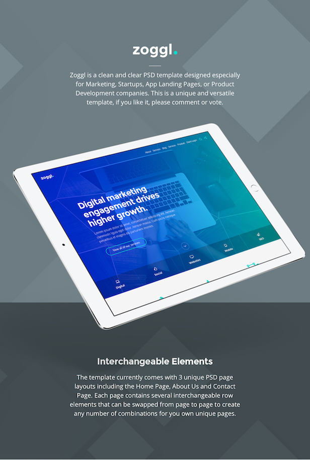 Zoggl - Multi-purpose Website PSD - 1