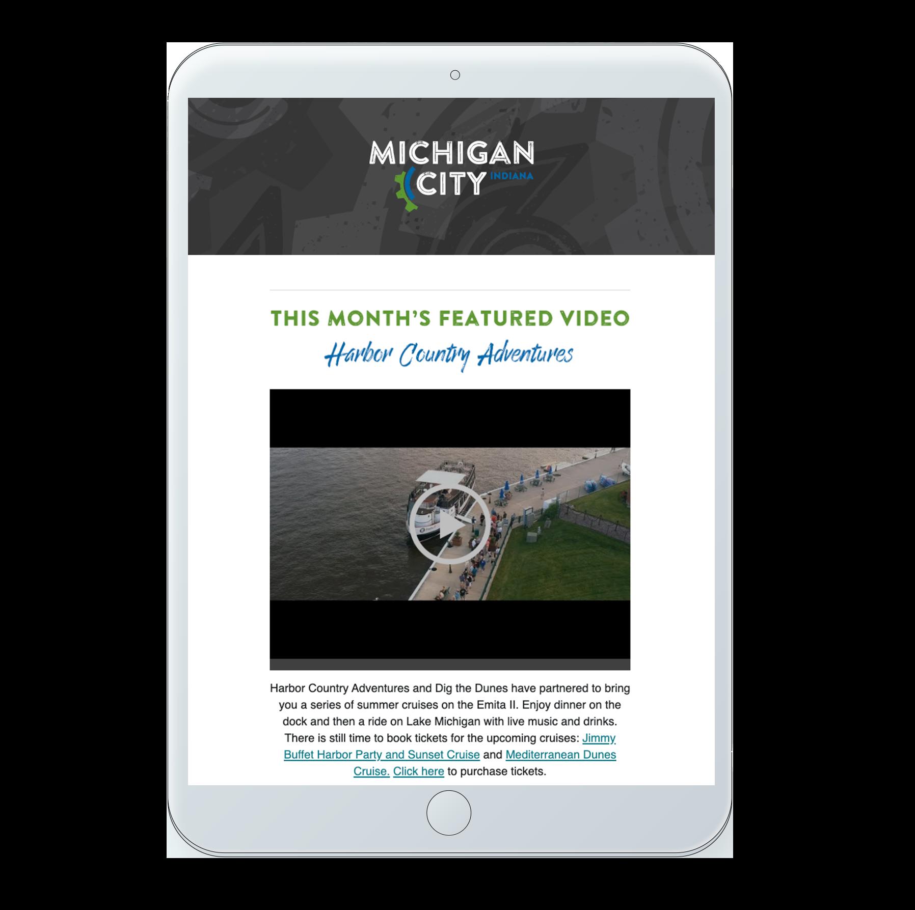 Michigan City web mockup