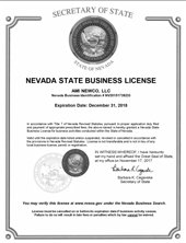 Nevada State Business License