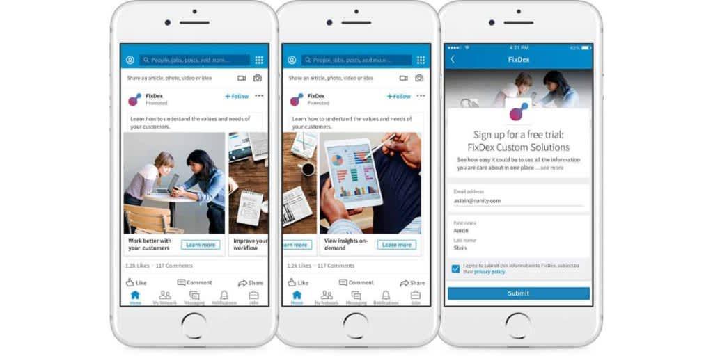 Carousel (karusel) LinkedIn reklamu mám osobně velice rád. U některých klientů nám generuje skvělé výsledky. Jen ji prostě nemůžete vypublikovat na firemní zeď.