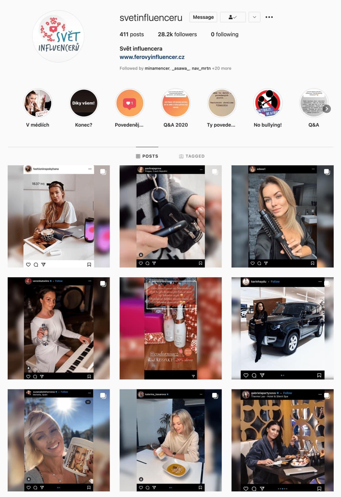 Rozhodně doporučuji sledovat tento profil na Instagramu. Najdete jich určitě více, ale tento je ověřený a starají se o něj správní lidé, kteří upozorňují na povedené a nepovedené spolupráce s influencery.